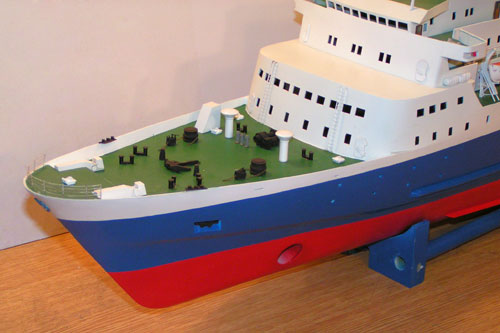 Scale model of ferry Tor Anglia, forecastle deck