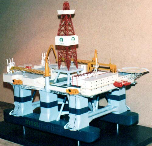 Scale model of offshore unit CS-50M Sirius, second variant of the colouration