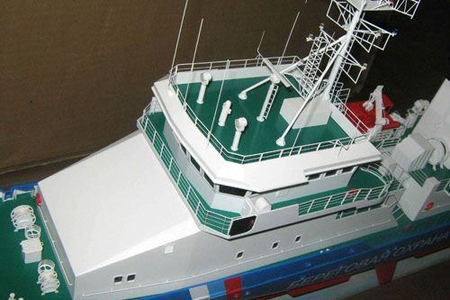 Scale model of patrol vessel Sprut, superstructure