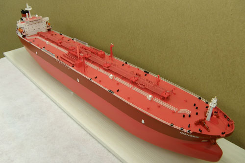 Scale model of tanker Conger, view on bow