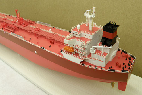 Scale model of tanker Conger, view on stern