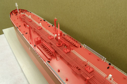 Scale model of tanker Conger, view on midship