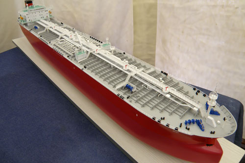 Scale model of tanker Koi