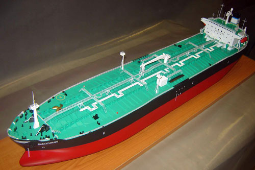 Scale model of tanker Samothraki