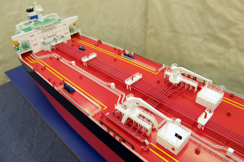 Scale model of tanker Vladimir, view from top
